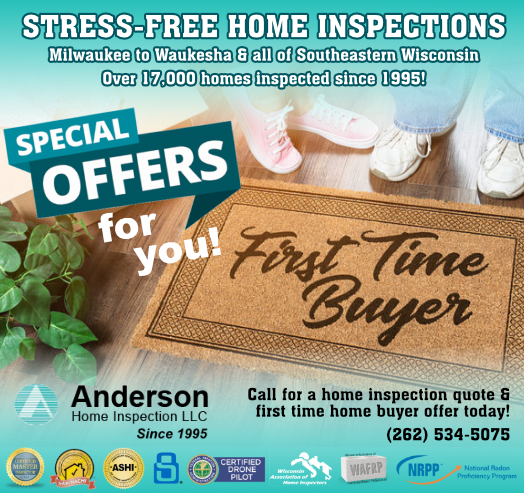 first time home buyer home inspection discount in Southeastern Wisconsin!