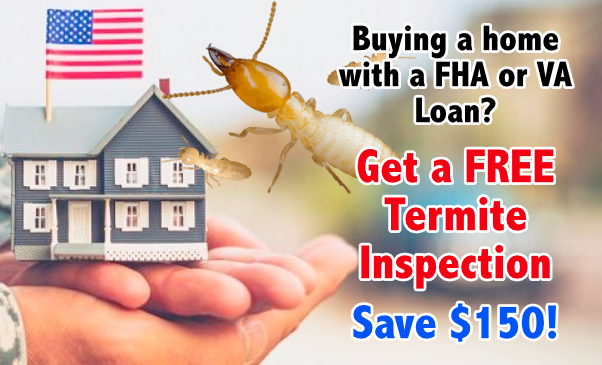 fha va loan free termite inspection save $150