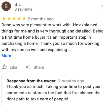Home Inspector Google Review Milwaukee Waukesha Donn Anderson Home Inspection