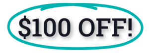 100 dollars off