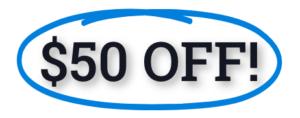 50 dollars off